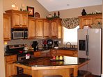 Fully-furnished kitchen with everything you need to cook for a crowd.