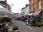 Louth Market and Town Centre just 5 mins walk from Spireview Cottage