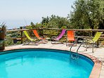 Solarium with seaview at villa terralu sant agata sui due golfi in a large farmhouse with restaurant