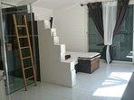 La chambre suite (chambre+salle de bains)