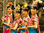 Traditional Balinese girls with their costumes