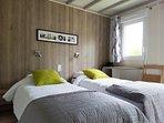 Chambre de 10 m2 avec deux lits simple ou un grand lit
