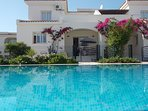 The rear of Zeytin Villa and Pool