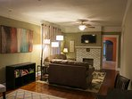 Comfortable living room to visit, relax, watch TV or play games.