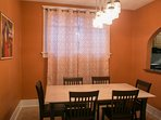 Dining room with window.