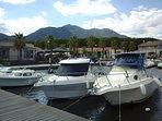 A 4 km le port de plaisance de Taverna (glacier, restaurant, plongée, etc)