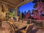 Large deck with BBQ and outdoor dining.  Beautiful views of the San Francisco Peaks!