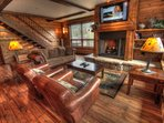 Living Room - Catch the big game on the flat screen TV in the upstairs living room.