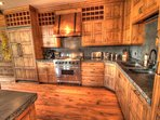 Gourmet Kitchen - The gorgeous gourmet kitchen features a natural gas range.