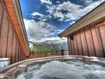 Rooftop Hot Tub - Soak in mountain views from your private 4 person rooftop hot tub.