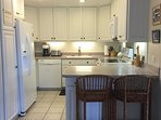 Immaculate kitchen fully equiped for all your cooking needs. Plus blender, coffeemaker, nutribullet.