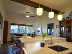 Kitchen Island with Quartz countertops
