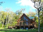 #103 Brand-new post & beam log cabin with 2 master bedrooms