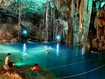 One of the 3 most impressive cenotes in the area , located in Valadolid Yucatán . 2 hrs from Cancun