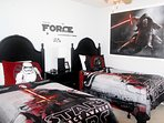 Star Wars Theme Boy Room, equipped with TV and ceiling fan