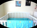 New Baby Crib in the Master BedRoom