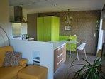 Bloc réfrigérateur congélateur vert anis (Samir)
