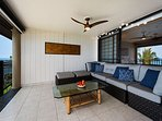 Spacious lanai seating where you can put your feet up for sunset