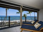 Kick back on these loungers & enjoy the breeze!
