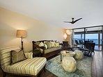 Spacious living room to enjoy as the ocean breezes pass through.