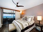 Comfortable king size bed in the master bedroom.