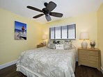 Guest bedroom equipped with king size bed.