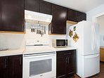 Full size appliances to utilize in this fully equipped kitchen.