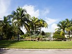 Enjoy the 82 acres of lush tropical landscaping.