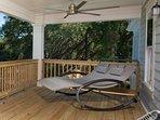 Hammock Rocker on the  master bedroom porch