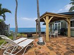 Spacious side yard with covered Cabana!