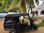 For short trips, the house tuk-tuk is available – staff will be happy to drive you