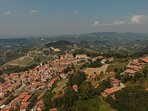 Monforte d'Alba bird's eye view