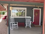 Relax in our rocking chairs with a coffee in the morning or a glass of ice tea in the afternoon.
