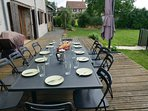 Outdoor dining and relaxing on the deck, with barbecue