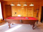 Game Room: 8 foot tournament style Pool Table. Not shown: Arcade with 60 different video games.