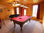 Game Room:  8 foot tournament style Pool Table.