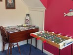 Table football and information table