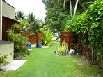 lush tropical landscaped gardens
