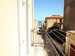 Vista del mare dal balcone
