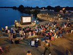 Outdoor cinema and BBQ