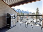 BBQ with a view!  Private patio to enjoy the outdoors