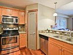 Granite countertops and stainless steel appliances - and dishwasher of course!