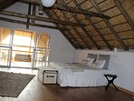 Master bedroom. From the balcony gives alovely view over Kruger and is it possible to see the ellies