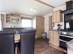 Spacious kitchen at Haven Hopton near Great yarmouth in Norfolk