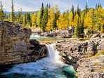 Kananaski waterfall in autumn - watch as the valleys change colors with the leaves!