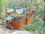 large 3 story log cabin in Lake Lure-very private. 3 bedrooms 3 bathrooms-one of each on each level