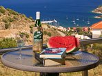 Enjoy the amazing view from your balcony with a glass of local wine! Villa I