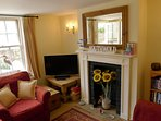 Front room Weavers Cottage. 3 seater settee, 2 seater settee, armchair. Games, great books, dvds