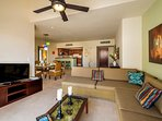 Luna Maya Tierra 5. View to kitchen and dining areas
