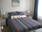 Bedroom - Queen size bed, night stands